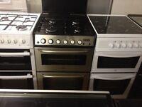 Silver zanussi Gas cooker