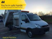 2010/ 10 Iveco Daily 3.0 50c15 Tipper Caged Refuge Body / Pod Tool Box 4350wb