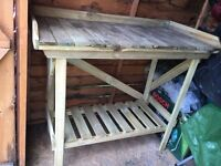 Gardening / greenhouse / shed wooden potting bench