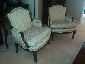 2 bergere armchairs