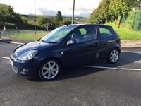 Ford Fiesta ZETEC blue, 2008, only 65,000 miles, full-history, clean car, £2195
