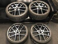 """20"""" alloy wheels inspiri alloys 5x112 Audi seat skoda Vw Volkswagen Mercedes Lamborghini BARGAIN"""