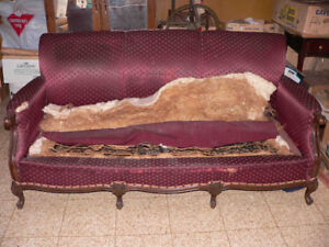 Free! Couch & 3 chairs, Louis XV / 15 style, upholstery project
