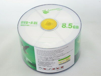 50 Pack Blank DVD+R DL D9 Disc 8.5GB 8X Dual Layer A+ Class Economy Package