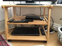 Solid rubber wood TV stand