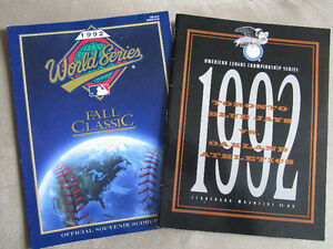 1992 Toronto Blue Jays World Series/ ALCS Programs