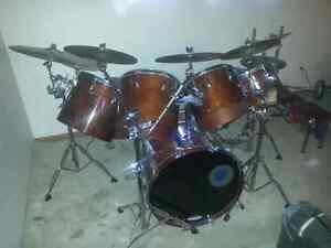 15 piece Tama super star drum set