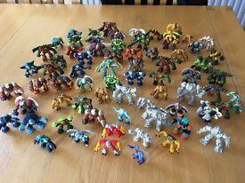 Selection of 70 Gormiti figures