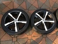 "18"" Rims with tires  5x114.3 TPMS sensors"