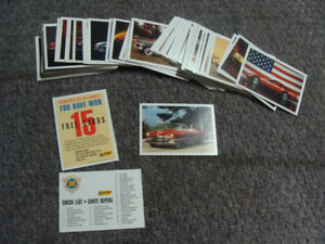 1991 Action PANINI Dream Cars 100 Card Set Missing #8