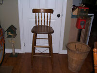 Antique Bass River Bar Stool 30 Inches From Floor to Seat