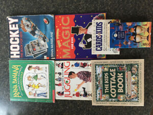 7 BOOKS: KIDS COTTAGE BOOK, GAMES, MAGIC, HOCKEY, JUGGLING...