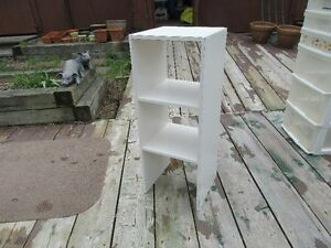 WHITE SHELF UNIT - SMALL - REDUCED!!!!