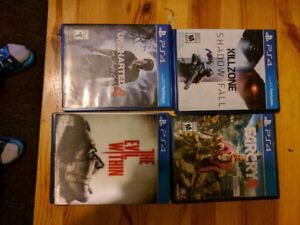 used ps4 games for sale, very new, very good conditions
