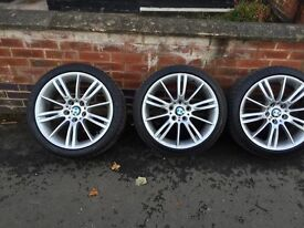 BMW m sport wheels with tires.