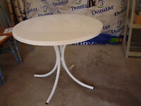 Solid Coated Steel Patio Table