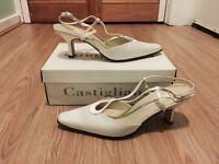 Brand New Castigliano Designer Bridal Shoes