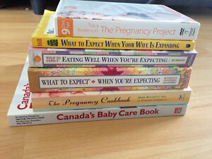 A selection of books for the expectant parents