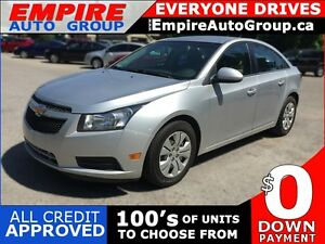 2012 CHEVROLET CRUZE LT * BLUETOOTH * PREMIUM CLOTH SEATING * LO