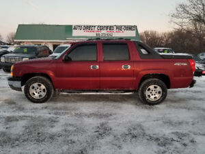 2006 CHEVROLET AVALANCHE 4X4  *** CERT*** $9995  100% APPROVED