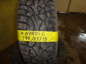 4 WINTER TIRE NORDIC 195/65/R15 85% TREAD Kitchener / Waterloo Kitchener Area image 3