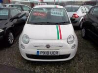 Fiat 500 1.2 ( s/s ) POP in white with stripes£30 bright red interior s/history