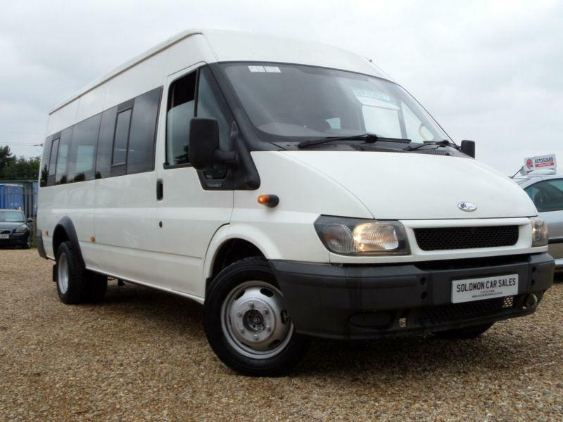 2004 ford transit minibus 9 seater white in peterborough cambridgeshire gumtree. Black Bedroom Furniture Sets. Home Design Ideas