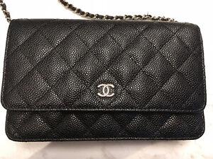 Chanel WOC- Balck caviar leather, silver hardware