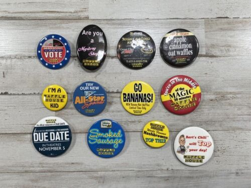 12 Authentic Waffle House Buttons - I'm A Waffle House Kid - Free Shipping!
