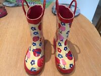 Girls Wellington Boots size 9