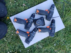 4X 12v tacklife drills. 6X batteries