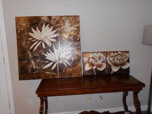 Floral Prints on Canvas