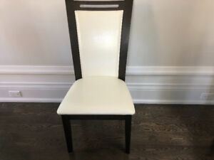 Set of 6 ivory chairs