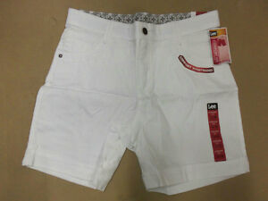 short Lee Dean  confort fit  stretch pour femme blanc