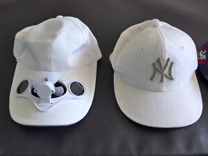 NEW BASEBALL HATS CAPS, ONE WITH A SOLAR FAN