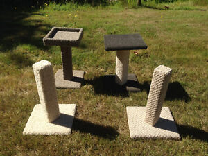 4 unique homemade cat scratching posts for sale