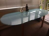 Extendable Tempered Glass Table £150
