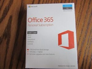 Office 365- Personal 1 user, 1 year