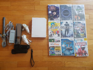 Nintendo WII, hookups, wiimotes, and 9 games