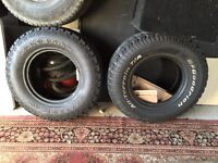 235-85-16 4x4 tyres. Excellent condition. White lettered. Lots of tread.