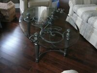 Coffee Tables with glass top (Set of 4)
