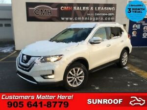 2017 Nissan Rogue SV  AWD ROOF HS CAM 6W-P/SEATS SMART-KEY