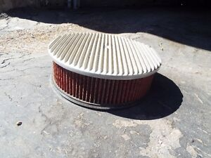 """14""""x 5""""alum ribbed air filter complete"""