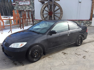 2004 Honda Civic black Coupe (2 door)