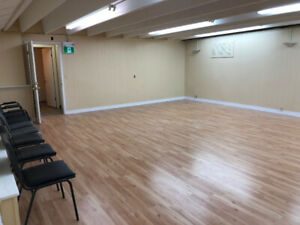 Commercial below ground space for rent in busy medical building