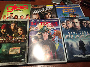 6 movies DVDs for 20$