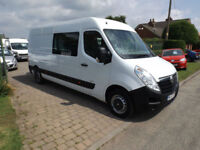 2013 63 Vauxhall Movano 125ps L3H2 Medium Roof Crew Van 7 Seats