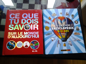 2 COLORFUL LARGE ALBUMS ENCYCLOPEDIA FRENCH KIDS 2 -3$