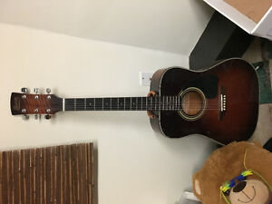 Ibanez electric and acoustic guitars