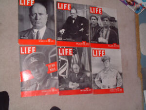 Six Life magazines from 1939 1944 1945